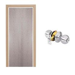 Paquete Puerta Tambor 75 x 213 cm HDF-Roble Gris
