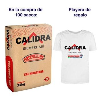 Paquete 100 Sacos de Cal y Playera Calidra
