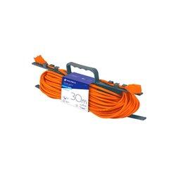 Extensión Eléctrica Uso Rudo Volteck 12 m Calibre 16 Naranja