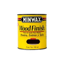 Mancha Aceite Wood Finish Minwax Ebony 1 Lt