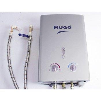 Paq Calentador Paso Instantáneo Rugo Gas Lp 6l y kit instal.