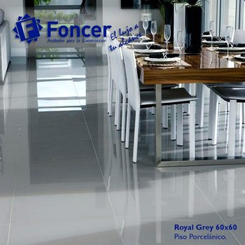 Piso Royal Foncer 60 x 60 cm grey