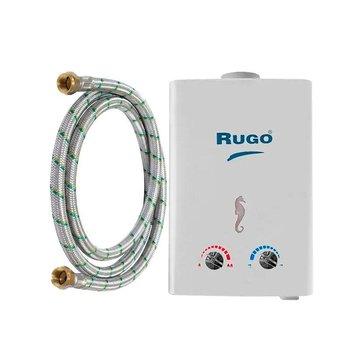 Paq Calentador Paso Instantáneo Rugo Gas Nat 6l y kit instal.