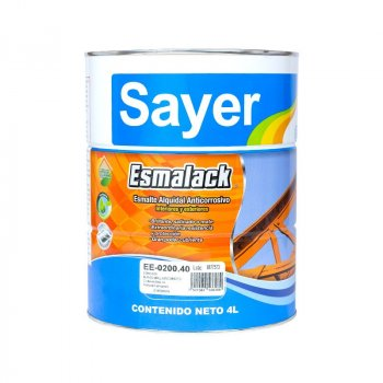 Esmalte Anticorrosivo Sayer Blanco Brillante 4 Lt