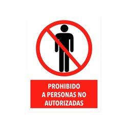 Señalamiento Prohibido Personas No Autorizadas