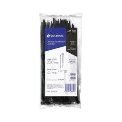 Cincho Plástico Volteck 20 cm Negro Tensión 18.14 kg 50 pz