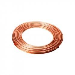 Tubo de Cobre Flexible tipo L ¼ pulg 1 m