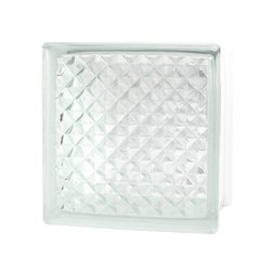 Vidrio Block Lattice marca Fontibre 19 x 19 x 8 cm