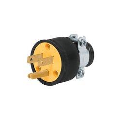 Clavija Reforzada Volteck 2 Polos + Tierra Conector Macho