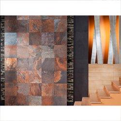 Piso Bengal Slate Daltile 45 x 45 cm Multicolor