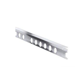 Uniperfil Novolistel 3XS 10 mm x 2500 mm Plata Espejo
