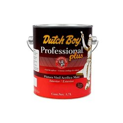 Pintura-Vinil Acrílica Mate Professional Plus Dutch Boy gl