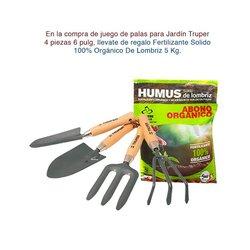 Juego palas para jardín Truper y fertilizante Humus de regalo