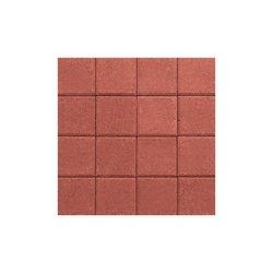 Adoquín Plaza Mextile 20 x 20 x 6 cm Rojo Rubí