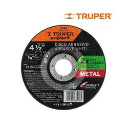 Disco Desbaste Metal Truper 4½ pulg Alto Rendimiento