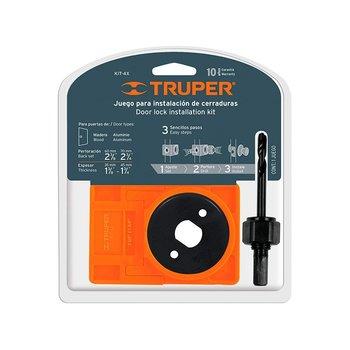 Kit Instalación Truper Cerraduras 4 piezas