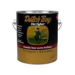 Esmalte Alquidálico Dirt Fighter Dutch Boy Negro Mate 1 Gal
