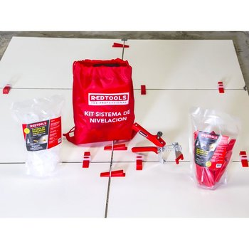 Kit de Sistema de Nivelación para Pisos Pro2 Redtools KSN2