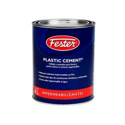 Cemento Plástico Negro Plastic Cement Fester 4 Lt