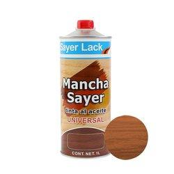 Tinta Aceite Mancha Sayer Lack Nogal Claro 1 Lt