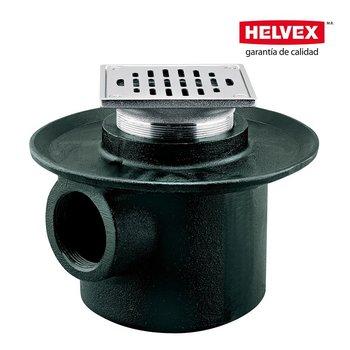Coladera Helvex Una Boca Rejilla Cuadrada 28235CH
