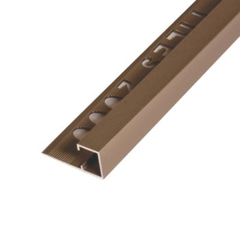 Uniperfil Alum Euromultius Tiles 2000 12 mm x 2500 mm Cobr Brill