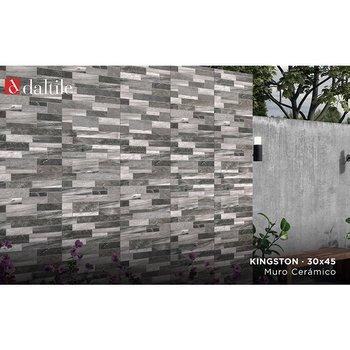 Muro Fachada Kingston Daltile 30 x 45 cm Gray ZKG2