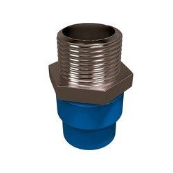 Conector CPVC Azul Rosca Exterior Bronce 13 mm Flowguard Gold