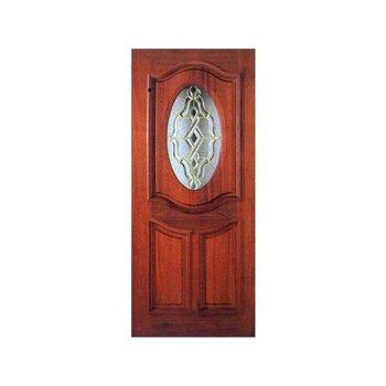 Puerta Oval Luxor 91 x 213 cm Caoba
