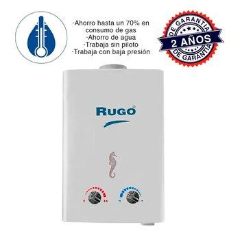 Calentador de Paso Instantáneo Rugo Gas Natural 6 l