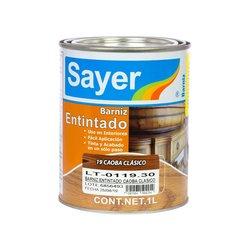 Barniz Entintado Sayer Lack Caoba Clásico 1 Lt