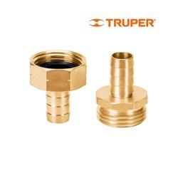 Conector Macho Hembra Truper ½ pulg CFM-1/2B