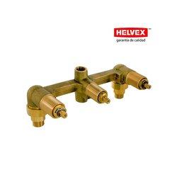 Ensamble Triple Empotrar Helvex sin Chapetones E-40-AQ