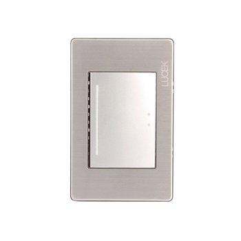 Placa 1 Apagador Escalera Plateado Lucek modelo BP013MP