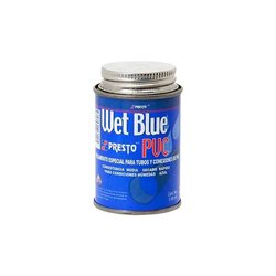 Pegamento PVC Presto Wet Blue 1/8 118 ml