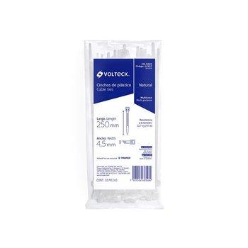 Cincho Plástico marca Volteck Transparente 25 cm