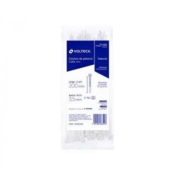 Cincho Plástico Transparente marca Volteck 20 cm