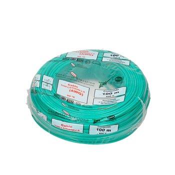 Cable Eléctrico THW núm 12 Verde 100 m