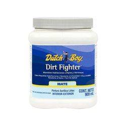 Pintura Acrílica Látex Dirt Fighter Blanco Mate 909 ml