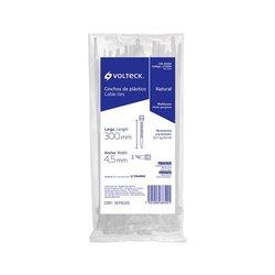 Cincho Plástico Volteck Transparente 30 cm