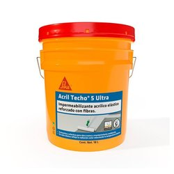 Impermeabilizante acrilico Acriltecho Ultra 5 blanco 5 años 18L