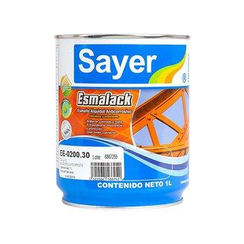 Esmalte Anticorrosivo Sayer Blanco Brillante 1 Lt