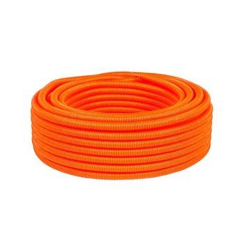 Manguera Poliducto Corrugado con Guía ¾ pulg Naranja 50 m
