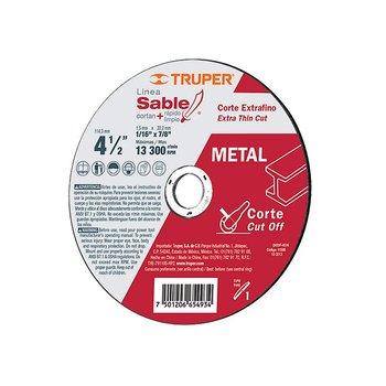 Disco Corte Extrafino Truper 4 ½ pulg