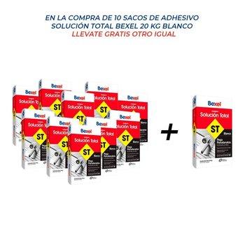Paquete 10 + 1 Adhesivo Solución Total 20 kg Blanco