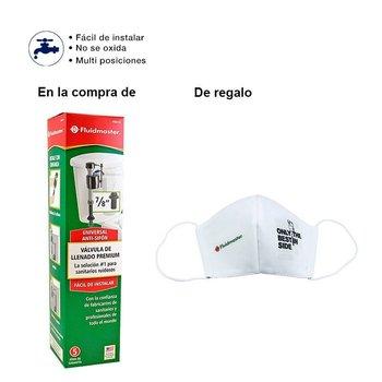 Paquete Válvula de Llenado 400A13 y Cubreboca Fluid Master