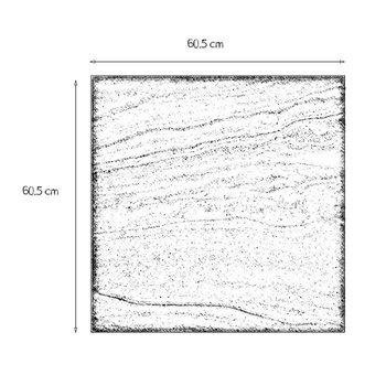 Piso Sandstone 60.5 x 60.5 cm Gris GSS2