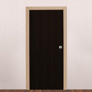 Paquete Puerta Tambor 90 x 213 cm HDF-Chocolate