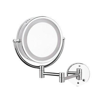 Espejo Helvex Doble Vista Giratorio Luz y Aumento ES002C