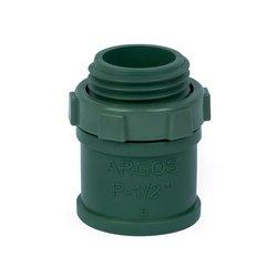 Conector PVC Conduit Pesado ½ pulg Verde
